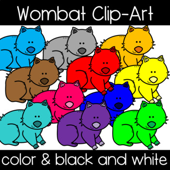 Cute and Colorful Wombat Clipart