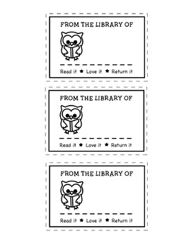 Cute and EDITABLE! Classroom Library Book Labels (Back to School!)
