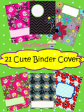 Cute and EDITABLE Flower Binder Covers