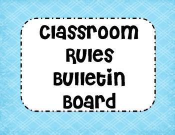 Cute and Fun Classroom Rules
