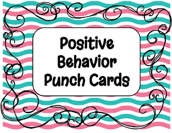 Cute and Simple Positive Behavior Punch Cards