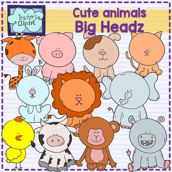Cute animals clip art - Big headz