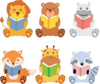 Animals Reading Clip Art Worksheets Teachers Pay Teachers