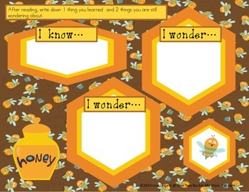 Cute as Can Bee Literacy Activities