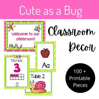"""Cute as a Bug"" Classroom Decor Set"