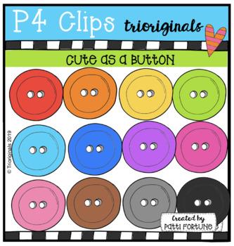 Cute as a Button {P4 Clips Trioriginals Digital Clip Art}