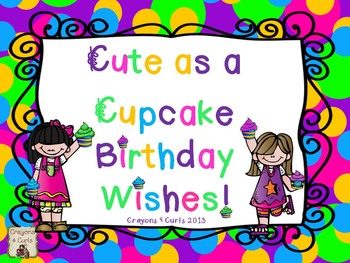 Cute as a Cupcake Birthday Wishes
