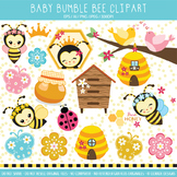 Cute bee clipart for commercial use.