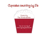 Cute cupcake counting by 5's