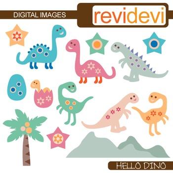 Cute dinosaur clip art in pastel colors (dino clipart) 07286