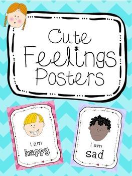 Cute feelings/emotions posters