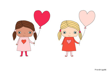 I Dig You Valentine-African American Clipart-Instant Download-Digital Clipart-valentine clip art-cute kids-african american clip art