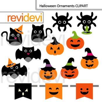Cute halloween ornament clip art - commercial use clipart