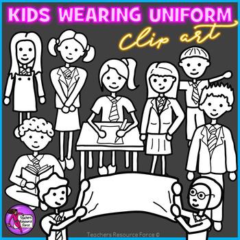 School Uniform clip art