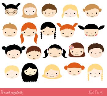4a3135f76 Cute kid faces clipart