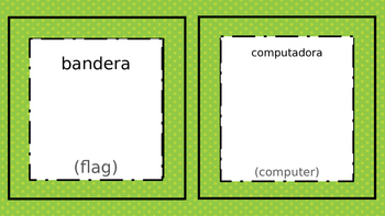 Cute labels for an ESL classroom