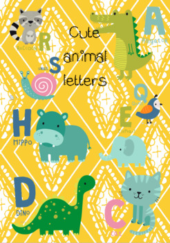 Cute letters with animals