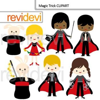 Cute magician clip art - Magic Trick Clipart