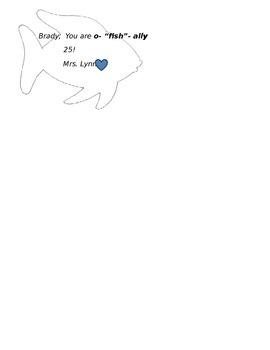 """Cute """"o-fish-ally"""" birthday tag"""