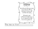 Cute poem template for The Kissing Hand