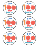 Cute printable I am 100 days smarter round label template