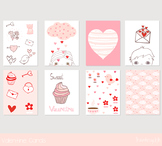 Cute printable Valentine cards, Love greeting card notes,