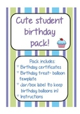 Cute student birthday pack