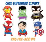 Cute superhero Clipart PNG file-300 dpi
