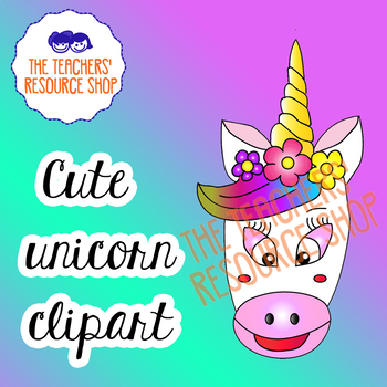 Cute unicorn clipart