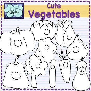 Cute vegetables clipart