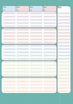 Weekly planner pages - Freebie