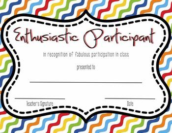 Cute zigzag End of the Year Certificates and Awards