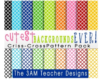 Cutest Backgrounds Ever: Criss-Crossed Pattern Pack
