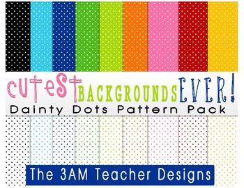 Cutest Backgrounds Ever: Dainty Dots Pattern Pack