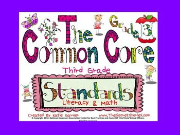 """Cutest EVER! 3rd / THIRD Grade Common Core """"WE CAN"""" Posters for Literacy & Math!"""