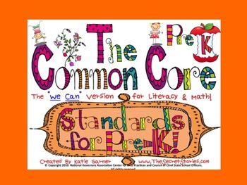 "Cutest EVER!! ""Pre-K"" Common Core Posters for Literacy & Math!"