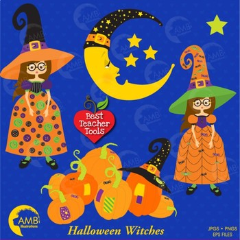Halloween Clipart, Witches clipart, {Best Teacher Tools}, AMB-216