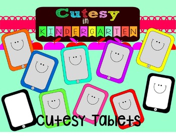Cutesy Clipart- Cutesy Rainbow Tablets (Personal and Commercial Use)