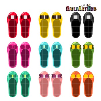 Cutesy Doll Shoes Clip Art - Great for Art Class Projects!