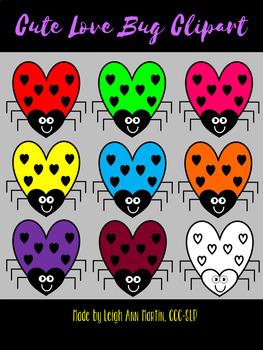 Cutesy Love Bug Clipart
