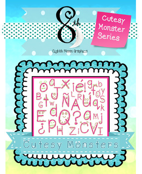 Cutesy Monster Alphabet Clipart