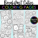 Cutie Breakfast Coloring Pages {Made by Creative Clips Clipart}