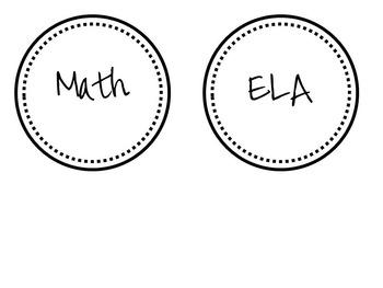 Cutie Classroom Labels