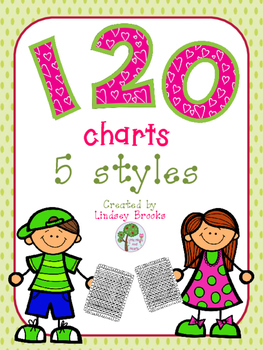 Common Core Math 120 Charts (5 Versions)