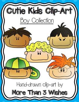 Cutie Kids Clip Art - Boy Collection