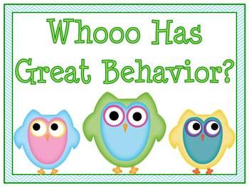 Cutie Owls Behavior Clip Chart