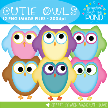 Cutie Owls - Clipart for Teachers and Classrooms