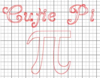 Pi Day 'Cutie Pi' {Silhouette Cut File}