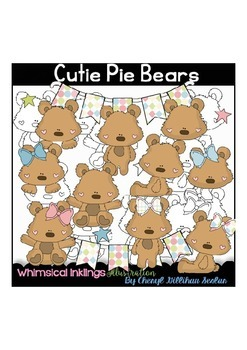 Cutie Pie Bears Clipart Collection