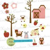 Cutie Pie Farm Clip Art Set